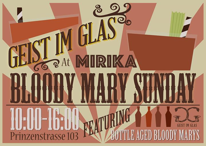 Bloody Mary Brunch on Sunday – 18.09.2016 10:00 @ Mirika   ASK ...